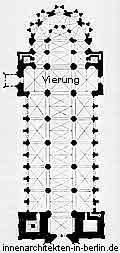 Vierung und Vierungsquadrat - Grundriss einer Basilika