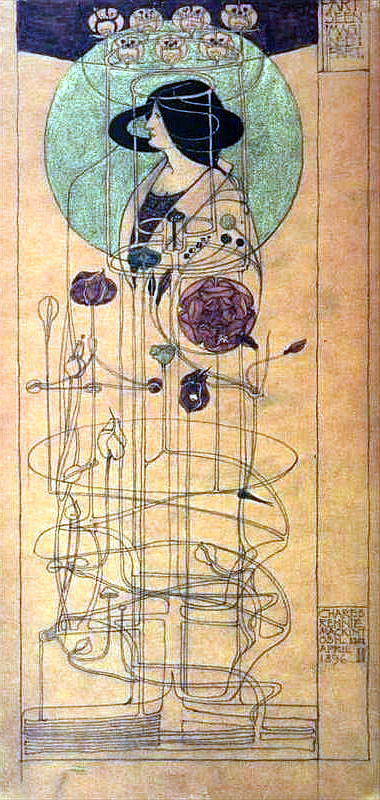 Jugendstil Bauhaus Tapete : Charles Rennie Mackintosh